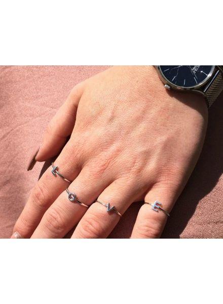 Jozemiek ® Initial Ring Silber Jozemiek