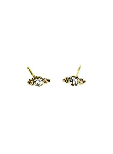 Jozemiek ® VINTAGE Stein Ohrringe Flügel Gold