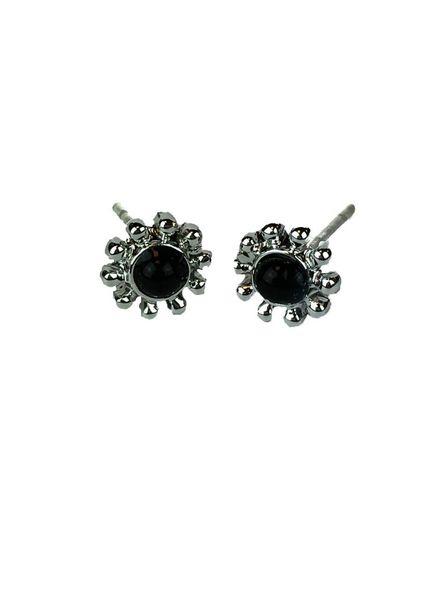 Jozemiek ® VINTAGE FLOWER BLACK Ohrringe Silber