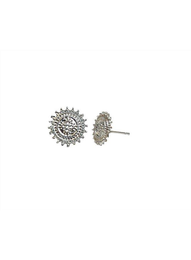 VINTAGE SUN Stud earring silver