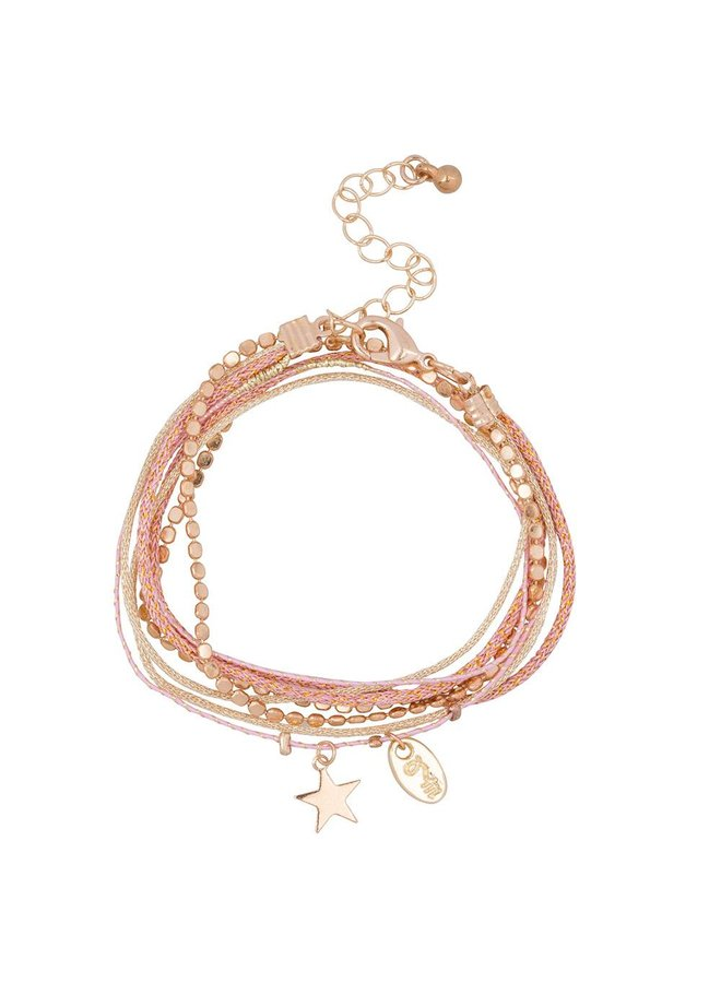 Jozemiek Rakhi star collection: ROSE PINK
