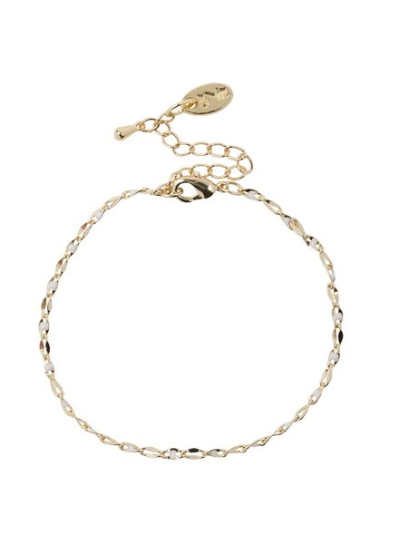 Jozemiek ® ONE DAY charity bracelet cloud wit ( plated 14k geelgoud  of  witgoud)