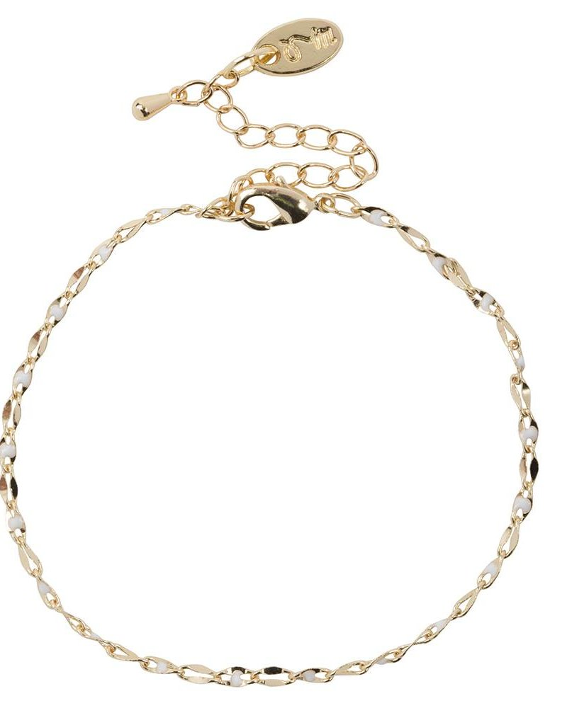 Jozemiek ® ONE DAY charity bracelet cloud white (plated 14k yellow gold or white gold)
