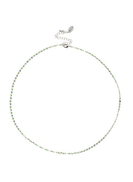 Jozemiek ® ONE DAY charity ketting groen  ( 14k geel goud of wit goud)