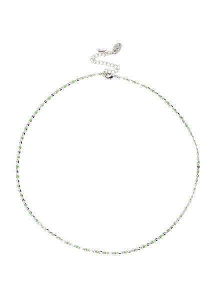 Jozemiek ® ONE DAY charity ketting groen  ( plated 14k geel goud of wit goud)