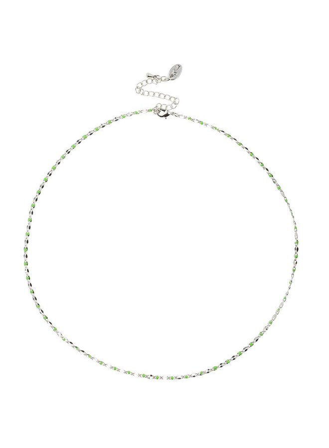 ONE DAY charity necklace green (plated 14k yellow gold or white gold)