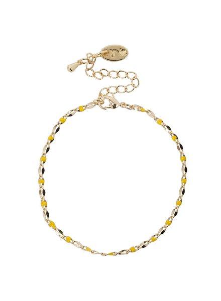 Jozemiek ® ONE DAY Charity Armband gelb (14 Karat Gelbgold oder Weißgold plattiert)