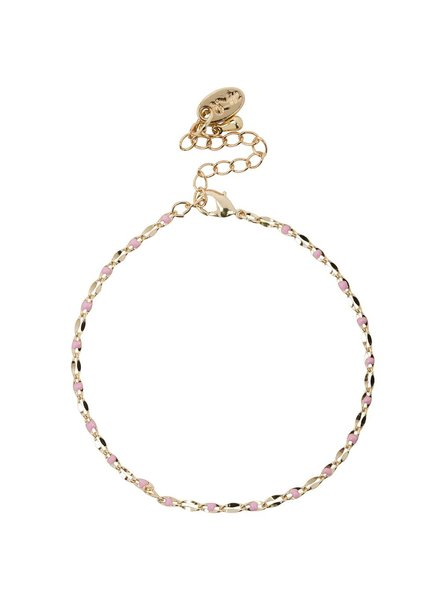 Jozemiek ® ONE DAY charity bracelet roze ( 14k geelgoud  of  witgoud)