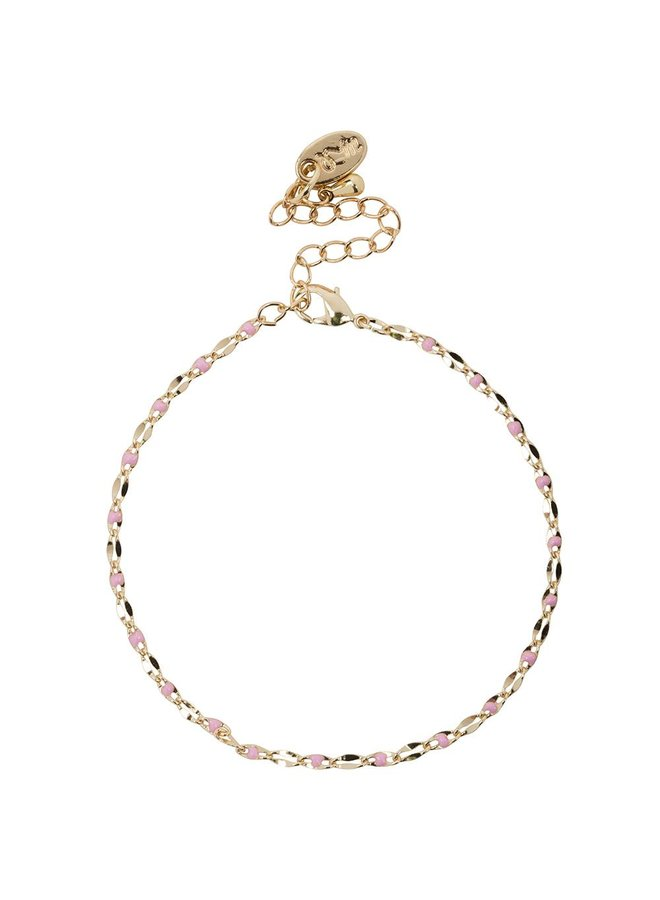ONE DAY charity bracelet pink (plated 14k yellow gold or white gold)