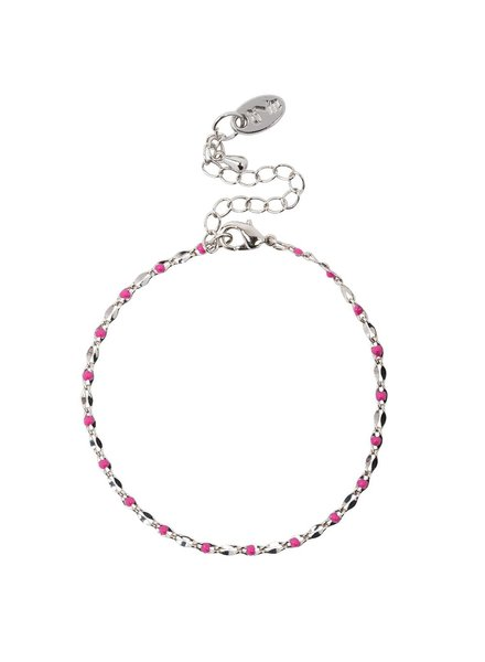 Jozemiek ® ONE DAY charity bracelet fuchsia ( 14k geelgoud  of  witgoud)