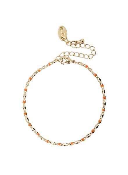 Jozemiek ® ONE DAY charity bracelet oranje ( plated  14k geelgoud  of  witgoud)