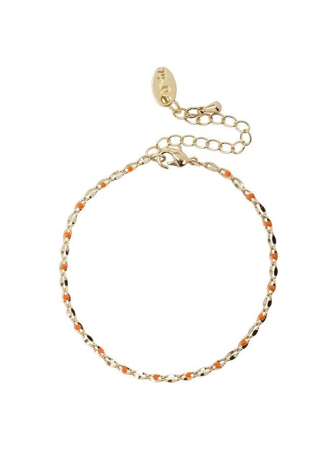 ONE DAY  Charity Armband orange (14 Karat Gelbgold oder Weißgold)