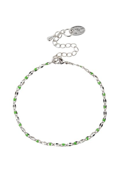 Jozemiek ® ONE DAY charity bracelet groen ( plated 14k geelgoud  of  witgoud)