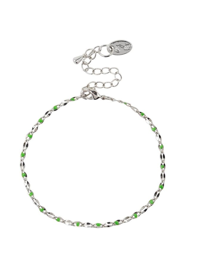 ONE DAY charity bracelet green (plated 14k yellow gold or white gold)