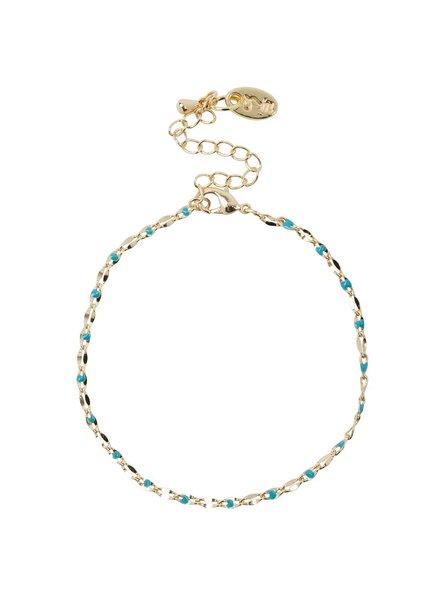 Jozemiek ® ONE DAY charity bracelet aqua (14k yellow gold or white gold)