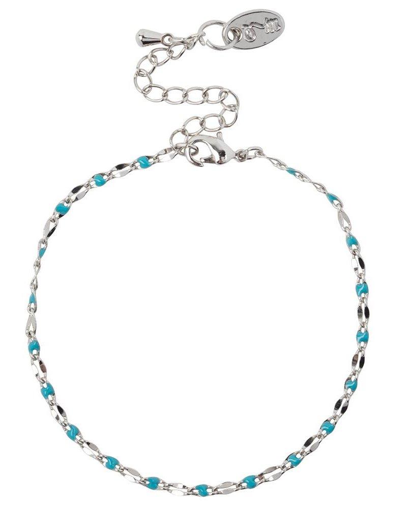 Jozemiek ® ONE DAY charity bracelet aqua ( plated 14k geelgoud  of  witgoud)