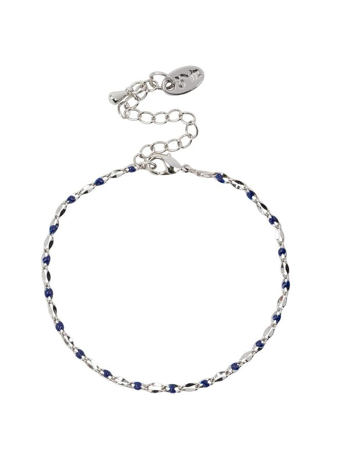 ONE DAY charity bracelet blue (plated 14k yellow gold or white gold)