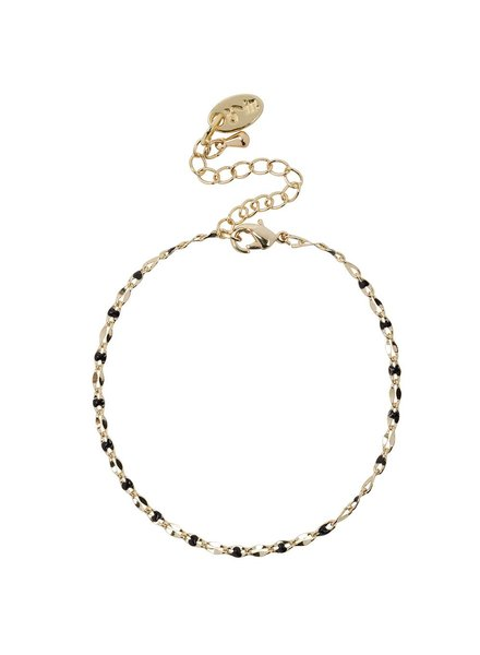 Jozemiek ® ONE DAY charity bracelet black (plated 14k yellow gold or white gold)
