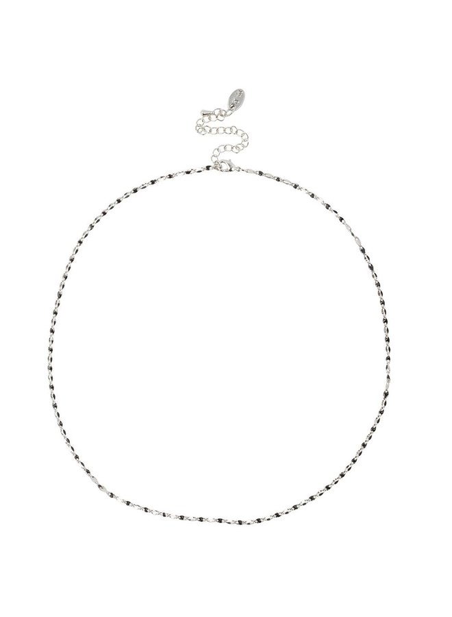 ONE DAY charity necklace black