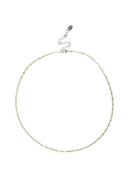Jozemiek ® ONE DAY charity ketting geel  ( 14k plated  geel goud of wit goud)