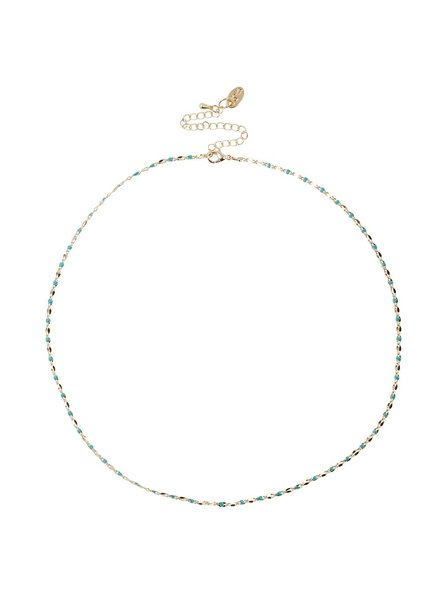 Jozemiek ® ONE DAY charity necklace aqua (14k yellow gold or white gold)