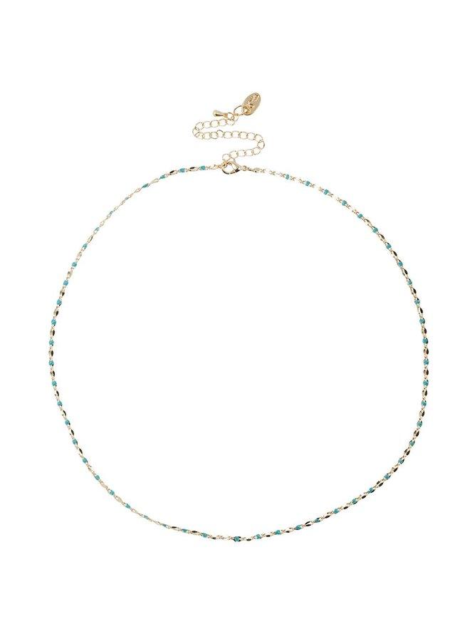ONE DAY Charity Halskette Aqua (14 Karat vergoldetes Gelbgold oder Weißgold)