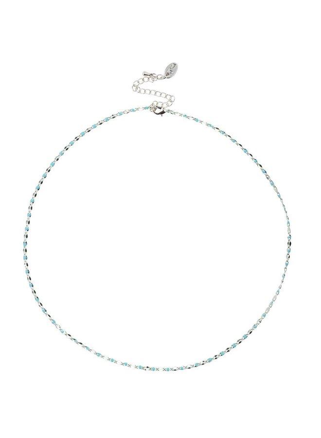 EIN TAG Charity Halskette Aqua