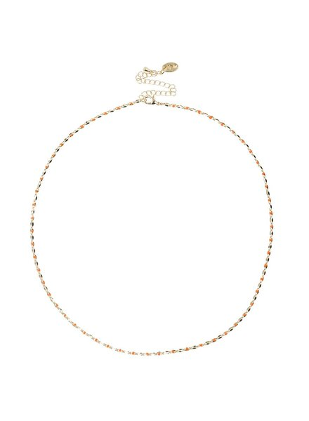 Jozemiek ® ONE DAY charity ketting oranje  ( 14k plated geel goud of wit goud)