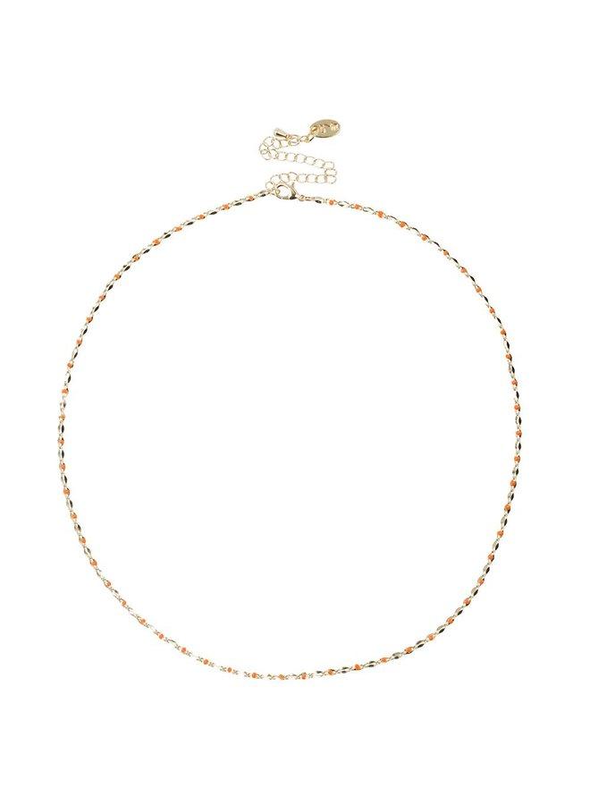 ONE DAY Charity Halskette Orange (14 Karat vergoldetes Gelbgold oder Weißgold)