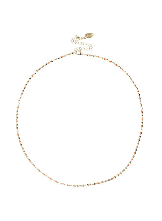 ONE DAY charity ketting oranje  ( 14k plated geel goud of wit goud)