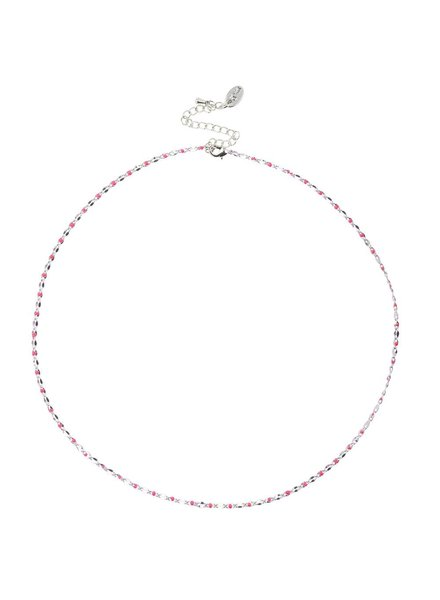 Jozemiek ® ONE DAY charity ketting fuchsia  ( plated 14k geel goud of wit goud)