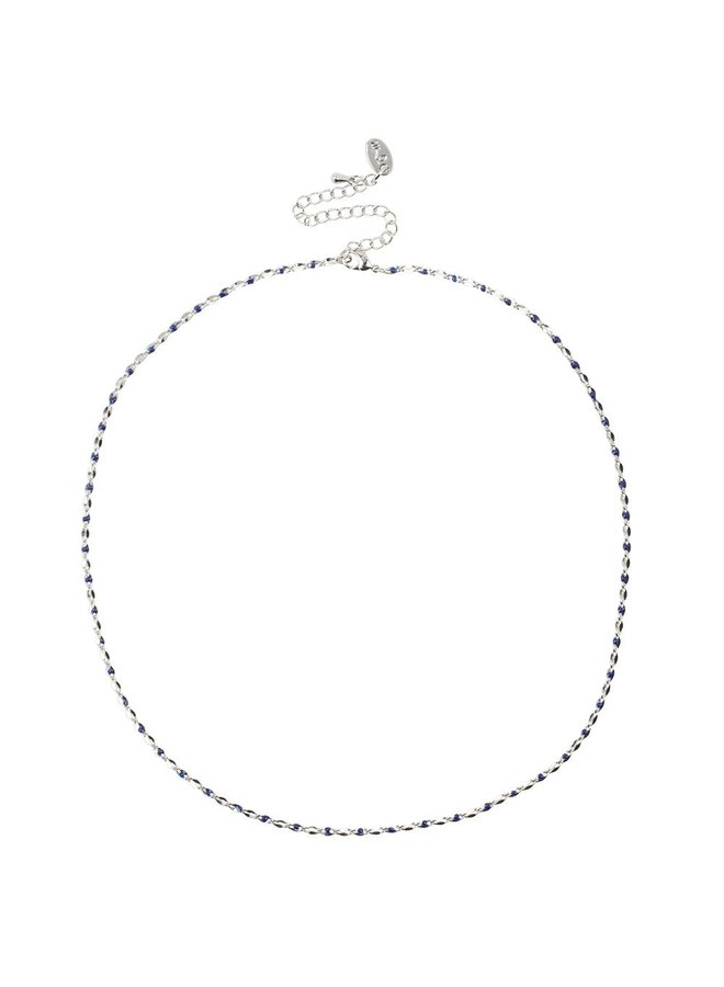 ONE DAY charity necklace blue (14k plated yellow gold or white gold)