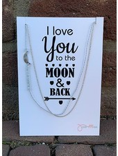 Jozemiek ® Necklace Love you to the MOON and back silver