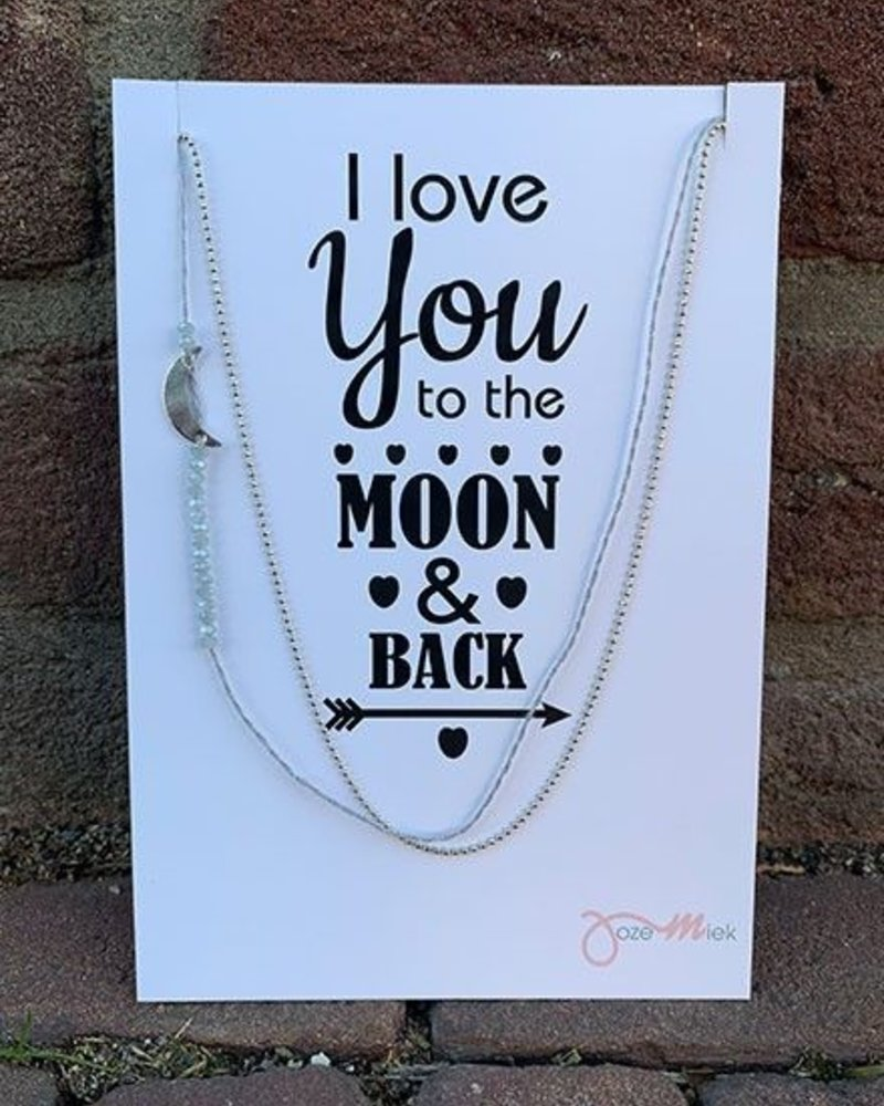 Jozemiek ® Necklace MOON silver