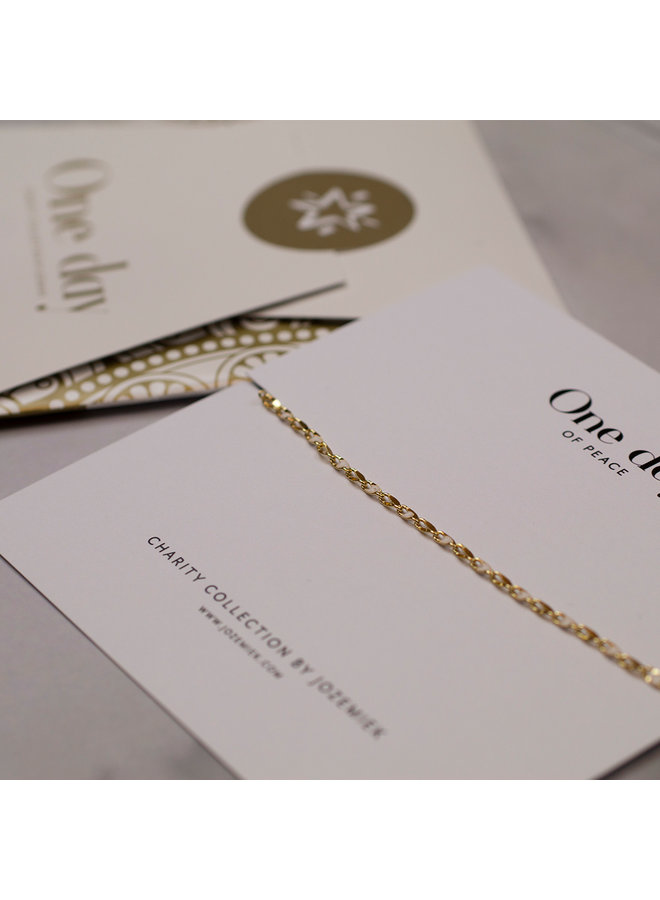 ONE DAY charity bracelet cloud white (plated 14k yellow gold or white gold)