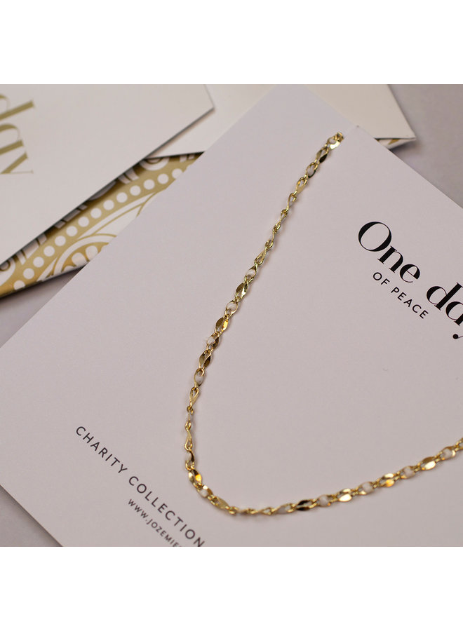 ONE DAY charity ketting cloud wit