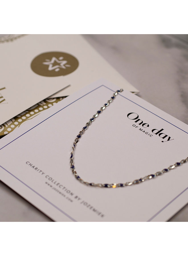 ONE DAY charity necklace blue