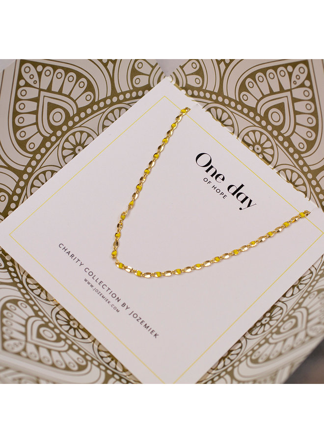ONE DAY charity necklace yellow