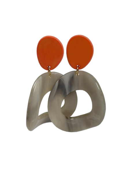 Jozemiek ® Statement-Ohrring orange