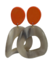 Jozemiek ® Jozemiek Statement earring orange