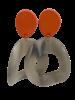 Jozemiek ® Jozemiek Statement-Ohrring orange