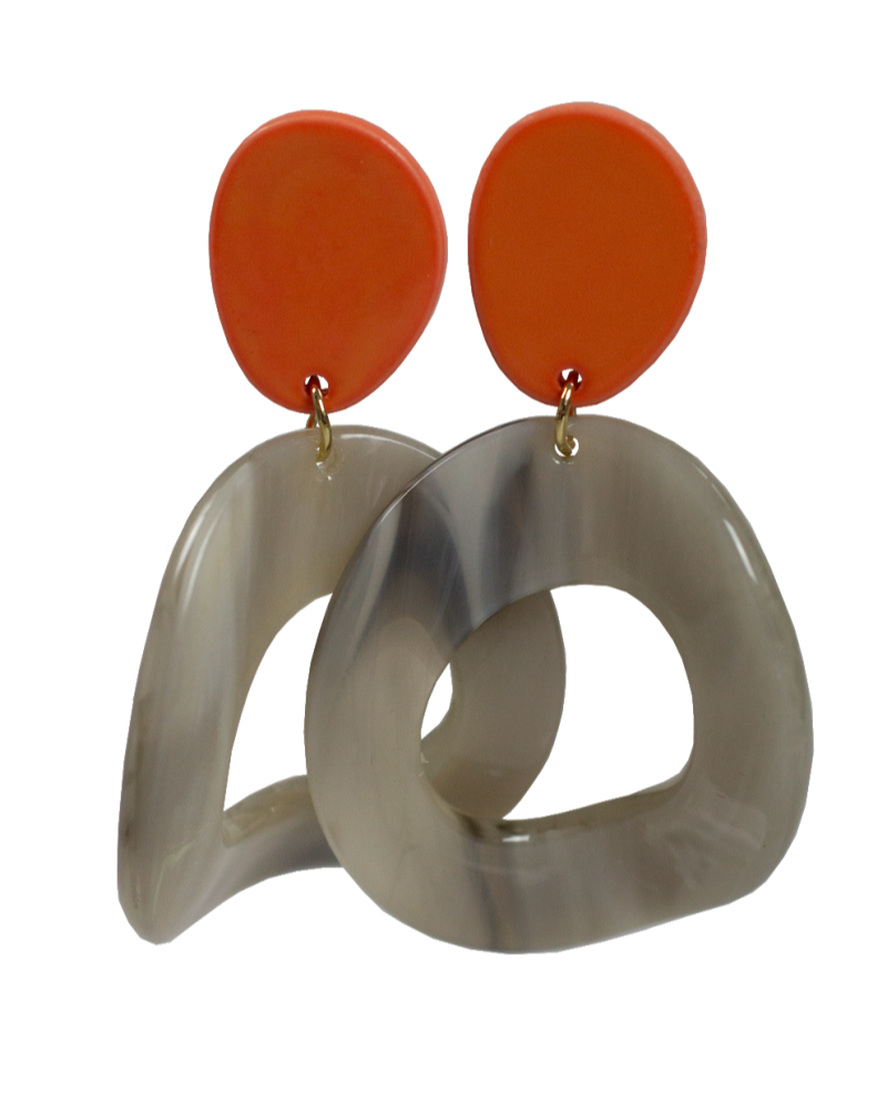 Jozemiek ® Jozemiek Statement oorbel oranje