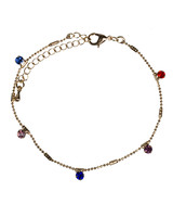 Jozemiek ® anklet gold colorful stone