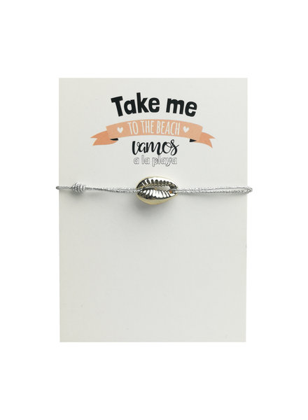 Jozemiek ® Shell bracelet silver with card