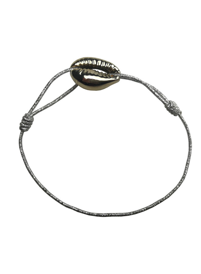 Shell bracelet silver with card