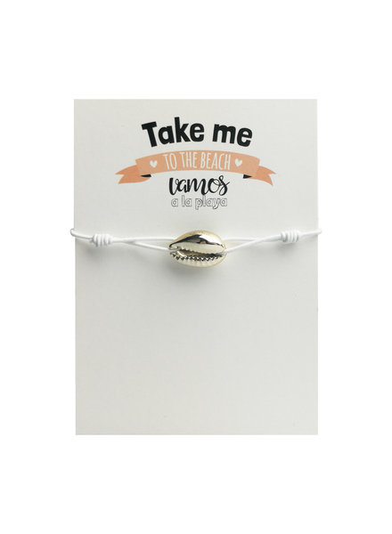 Jozemiek ® Shell bracelet white with card
