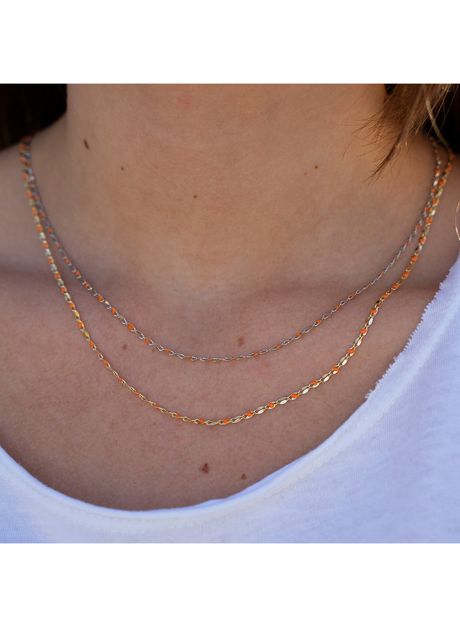 ONE DAY charity necklace orange
