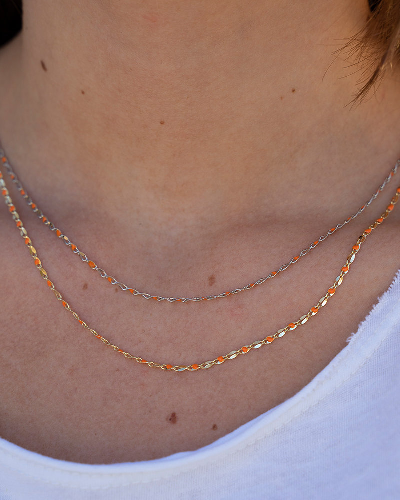 Jozemiek ® ONE DAY charity ketting oranje