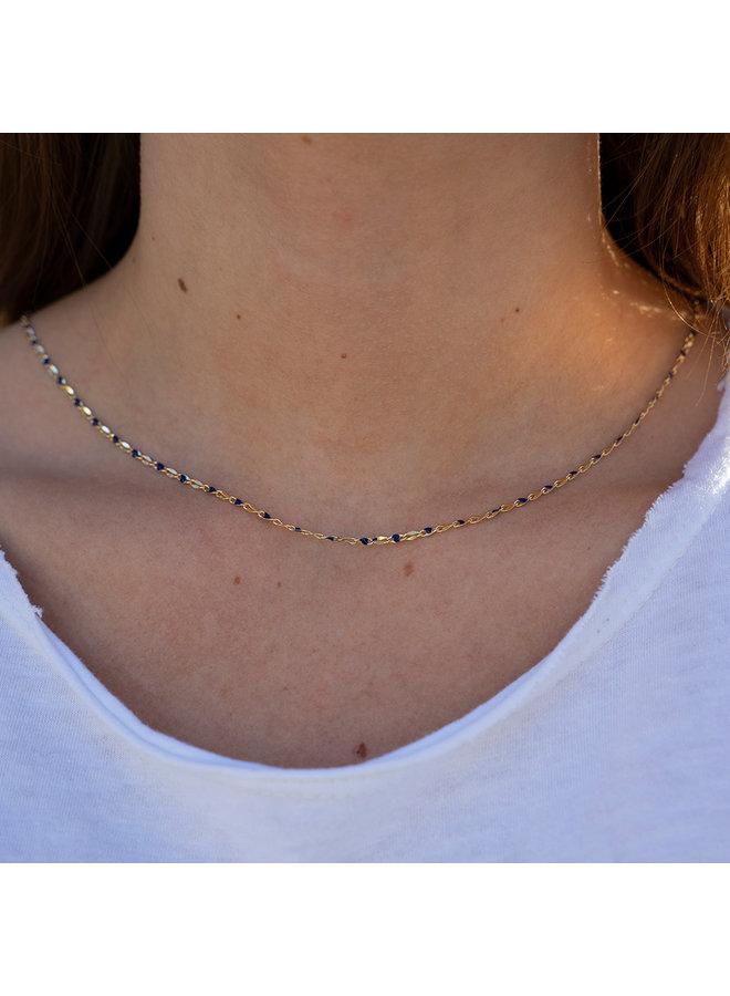 ONE DAY Charity Halskette blau