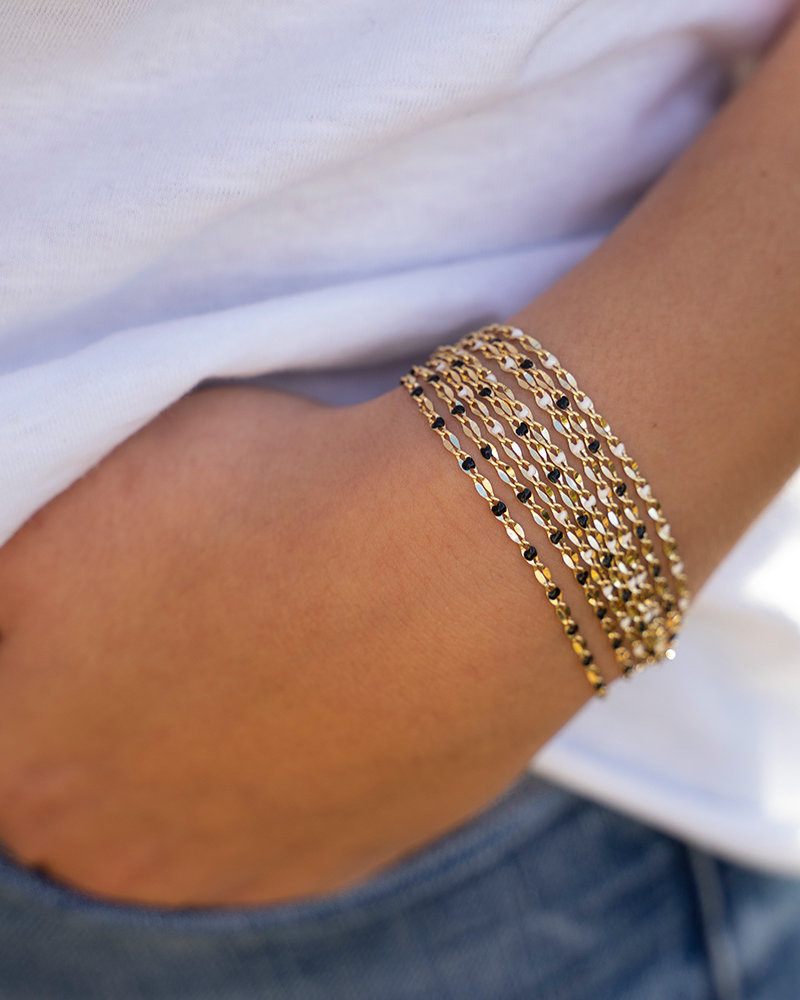 Jozemiek ® ONE DAY charity bracelet cloud wit ( plated 14k geelgoud  of  witgoud)